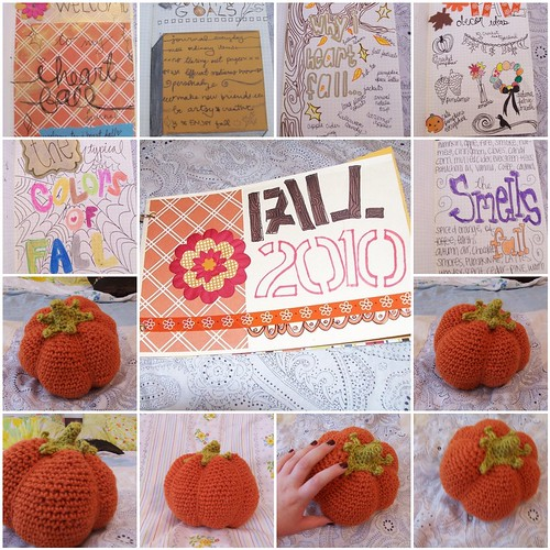 Fall Journal & Crochet Pumpkins