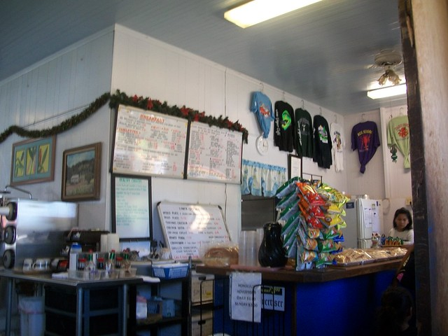 Inside the Blue Ginger Cafe