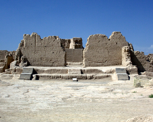 The Great Buddhist Temple at Jiaohe Ruins