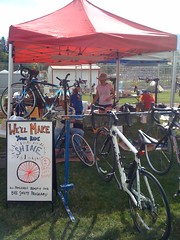 Our set up at Cycle Oregon 2010