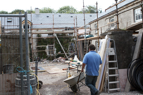 Construction at Ballymaloe