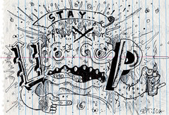 """UPFUK's """"Stay Up"""" - Letters from Jail (EndlessCanvas.com) Tags: graffiti artwork character jail fuckit atb prisonart upfuk upfukgraffiti atbgraffiti freeupfuk"""