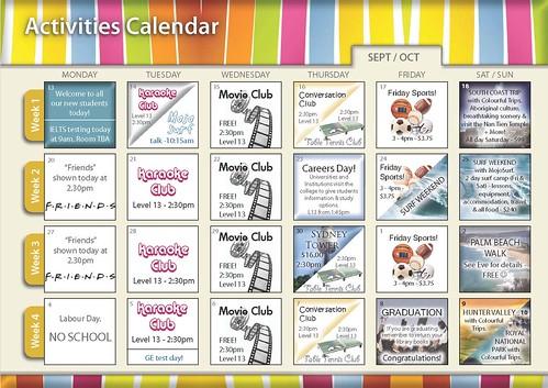Activities calendar September-October