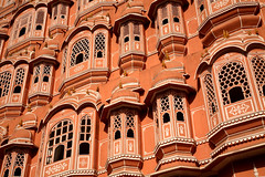Hawa Mahal 3 (David OMalley) Tags: jaipur india  the pink city city rajasthan  unesco world heritage site monumental monument monuments mosque mosques temple temples masjid bazaars bazaar market markets hindu architecture historic stunning amazing spectacular beauty beautiful dense crowded streetlife crazy cow cows hectic chaotic exotic unique orient oriental inde linde subcontinent