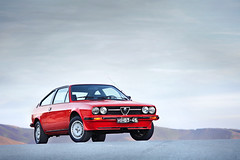 Alfa Romeo Sprint Veloce 1.5 (David Guimares) Tags: red sky mountain classic portugal sports beautiful vintage real design track fast 15 racing vila 80s alfa romeo boxer monte sprint fwd senhora graa giugiaro veloce farinha basto mk1 alfasud mki mondim