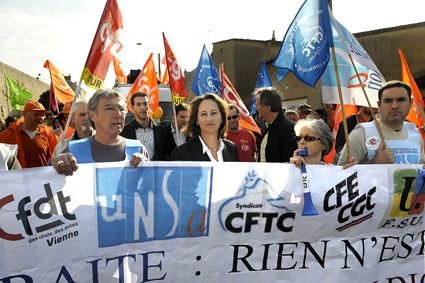 Ségolène Royal, à la manifestation pour les retraites