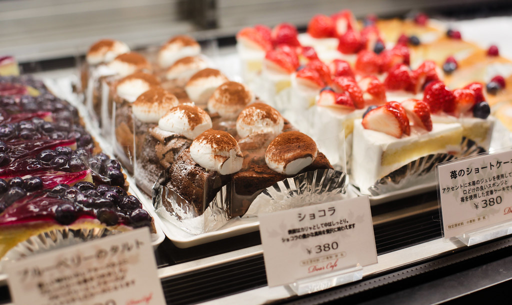 Cakes in Yodobashi Umeda