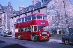Highland Omnibuses L2 Inverness (Guy Arab UF) Tags: bus buses 1956 inverness l2 easterncoachworks academystreet highlandomnibuses bristolloddeka scottishomnibuses dalneigh nsg781 8april1971