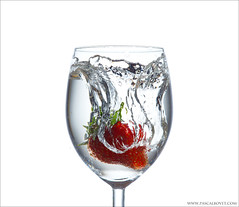 Strawberry water splash - Explore [FrontPage] (pascalbovet.com) Tags: water glass fruit experimental highkey splash highspeed lesson3 highspeed101