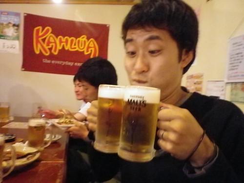 ビール×2