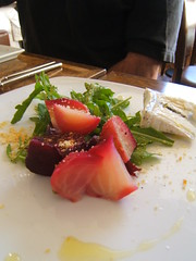 Square One - beet salad with Humbolt Fog cheese