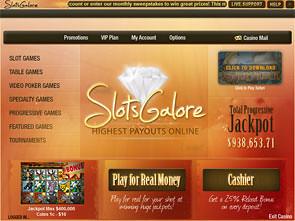 Slots Galore Casino Lobby