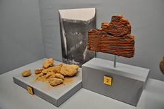 Tablet with Sumerian Flood Story (Penn Museum) Tags: water mud flood iraq story clay tablet mesopotamia barro baked irak cocido diluviouniversal sumerian greatflood tableta nippur narración tablilla barrococido sumerio creationmythology