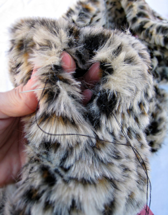 faux fur leopard scarf DIY -13