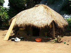 A typical home in Kisindi