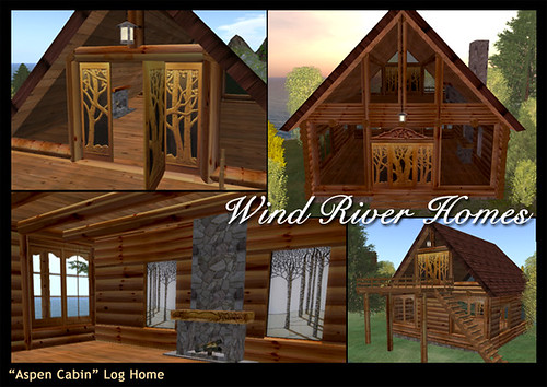 """Aspen Cabin"" from Wind River Homes - InWorldz by Teal Freenote"