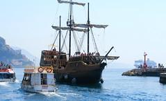 Dubrovnik Port 2 (johan.pipet) Tags: city blue sea summer vacation holiday history port canon eos warm ship croatia pirate palo dubrovnik adriatic bartos 400d bart