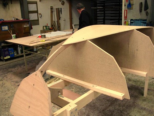 Joel white nutshell dinghy at duck flat spring boatbuilding school