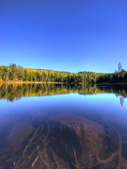 Autumn lake (Victor Svensson) Tags: autumn trees lake tree water leaves yellow europe afternoon sweden september hdr filipstad 5star vrmland tonemapped
