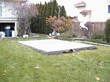 how to build concrete pad for hot tub
