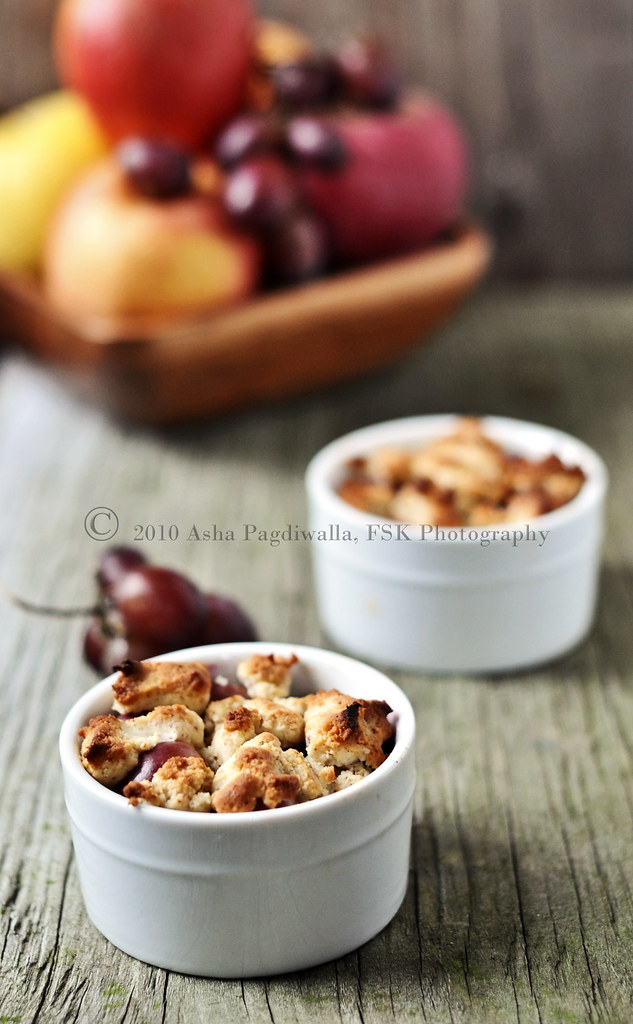Apple & Red Grape (gluten free) Cobbler