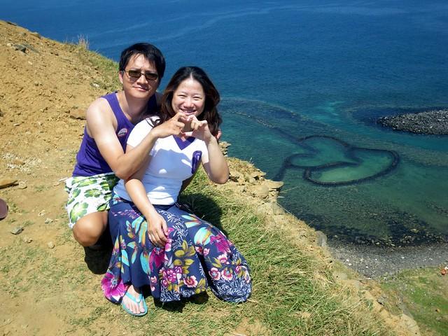 佳玉穿著彩虹去菊島旅行