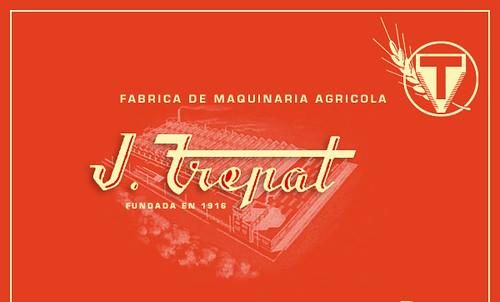 Publicitat de l'empresa JOSÉ TREPAT, fabricant de maquinària agrícola de Tàrrega (L'Urgell)