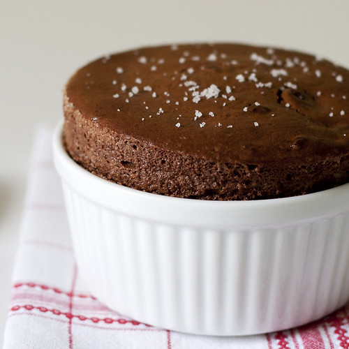 Lardon My French: Dark Chocolate Espresso Soufflés
