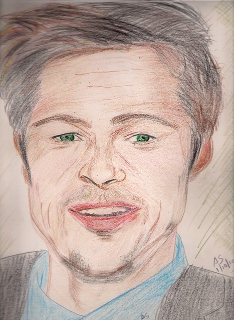 Brad Pitt by AS_hummingwords