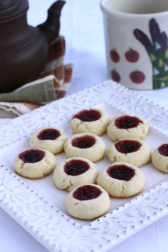 Lemon & Cherry Jam Thumbprint Cookie Recipe - Cookin Canuck