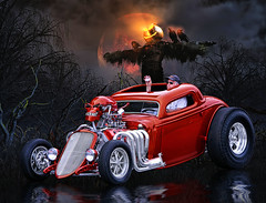 Back Woods Reaper .... (Rat Rod Studios) Tags: halloween skulls skeleton death witch pumpkins hearse elvira hallowseve
