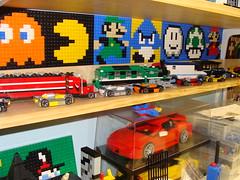LEGO Area October 2, 2010 #9 (notenoughbricks) Tags: lego greengrocer legomocs citycorner cafecorner legocollection legodisplay legodesk legoworkspace legovideogamemosaics legoinstructionbooklets legocollectibleminifiguresdisplay