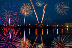 Fireworks On The Bridge (juliereynoldsphotography) Tags: bridge fireworks championships southport