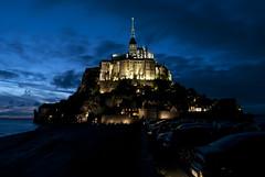 Mont Saint-Michel [Explore] (Joe[insanely]) Tags: nikon francia montsaintmichel normandia notturno d60 bretagna
