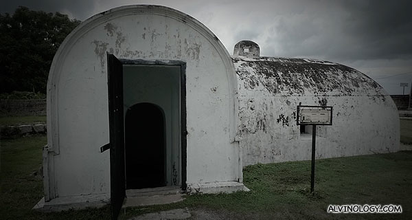 Front view of the ammo bunker