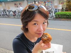 Eating Satou Matsusaka beef ball! (Silly Jilly) Tags: japan tokyo kichijoji 吉祥寺 satou