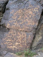 Petroglyphs (jayselley) Tags: mountain asia desert september mongolia range gobi exodus 2010 mongol bayan bichigtkhad mongolianadventure