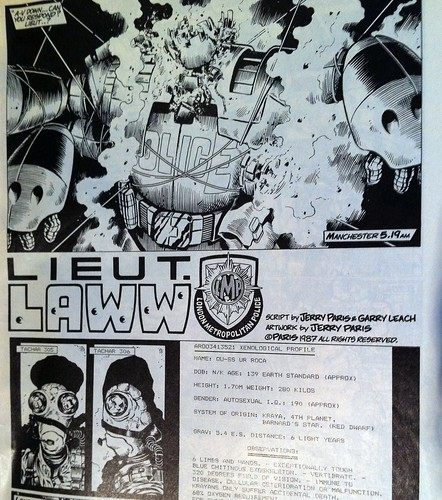 Lieutenant Laww comic by Jerry Paris in C+VG magazine