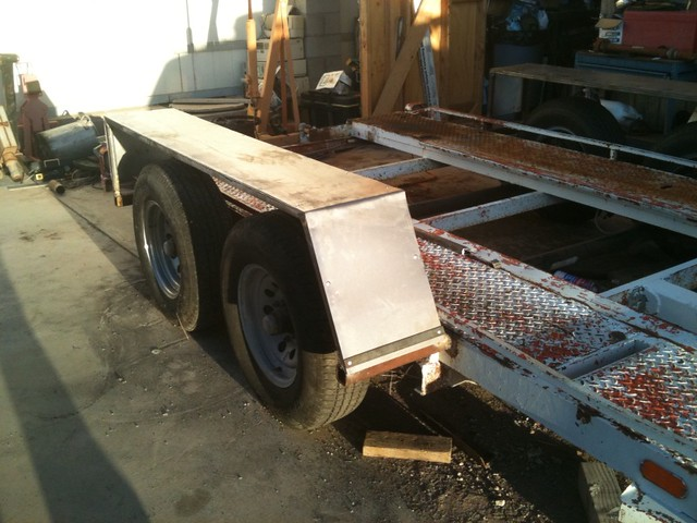 Dually Trailer Fenders : Homemade tandem trailer fenders ftempo