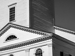 A New England Church 10.10.01 5436 (rowland-w) Tags: blackandwhite bw white church window architecture massachusetts historic northshore unitarian newburyport