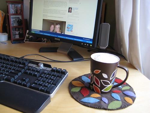 Autumn wool mug rug2 by Paulette