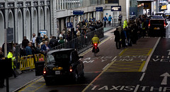 October 4th Tube Strike (CGP Grey) Tags: greatbritain england london europe unitedkingdom tube taxis line queue strike europeanunion paddingtonstation cityofwestminster tubestrike