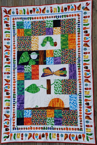 Hungry Catapillar Quilt from Customer