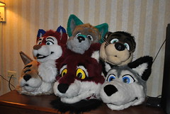 6 fursuit heads