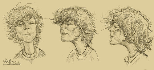 Schoolism Assignment 7 - sketches of Erica