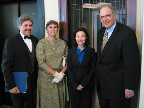 Pictured from the left are Reverend Clark Bates and wife, USDA Deputy Administrator for Rural Utilities Jessica Zufolo and former Administrator Chris McLean.