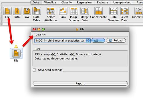 Orangie viz tool - import data