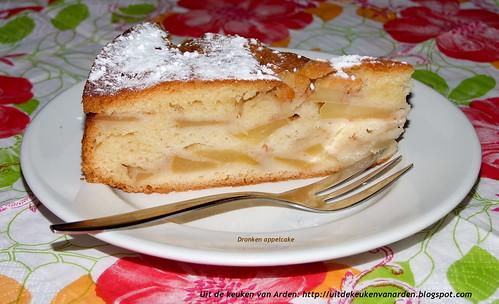 Dronken appelcake