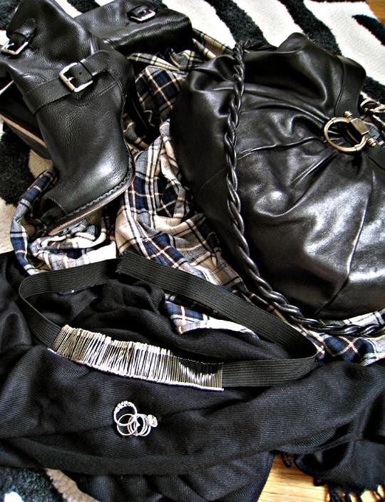 michael kors boots+safety pin belt+ferragamo bag