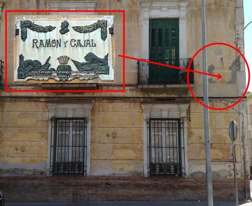 Donde estaba la Placa Ramon y Cajal